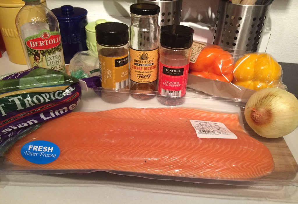This salmon dish is so simple to make and only uses one pan, so clean-up is simple!