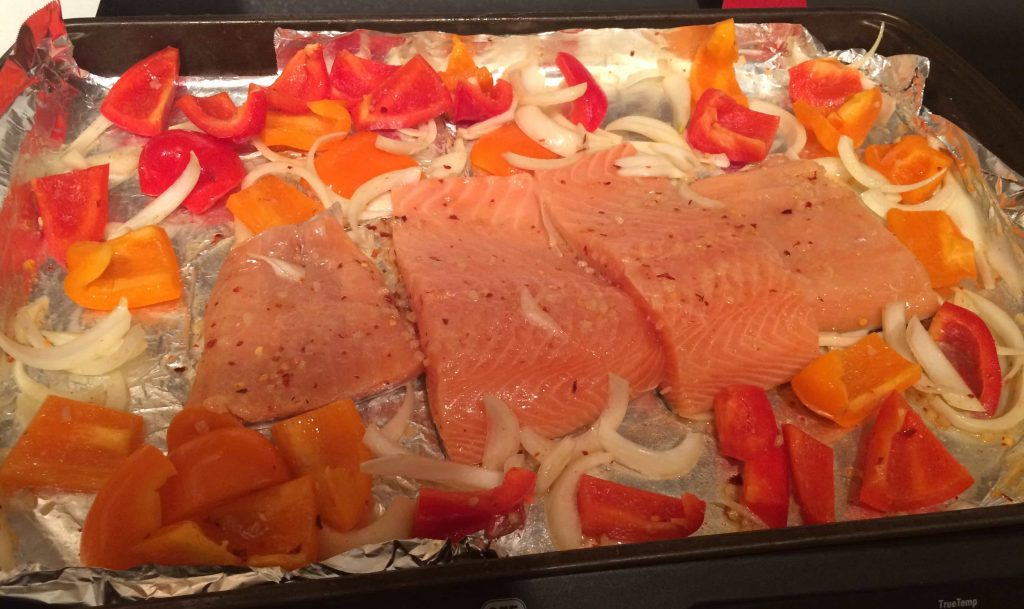 This baked salmon recipe is so simple to make and only uses one pan, so clean-up is simple!