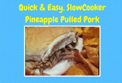 This Quick, Easy, Slow-Cooker BBQ Pineapple Pulled Pork is a cinch to put together and always a hit!