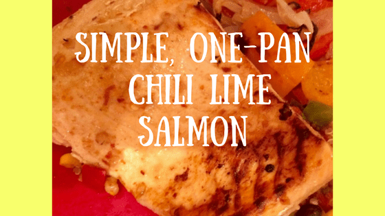 This Chili-Lime Salmon is a snap to put together and cooks easily on a a baking sheet.