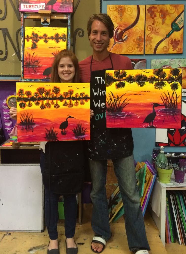 Paint Nights Make for a super fun and unique date night!