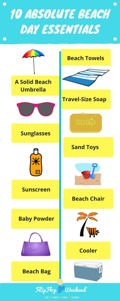 These Ten Items Are necessities to make your beach day stress-free!