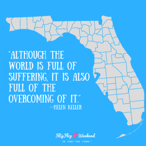 Inspirational Quote by Helen Keller- Post Hurricane Irma