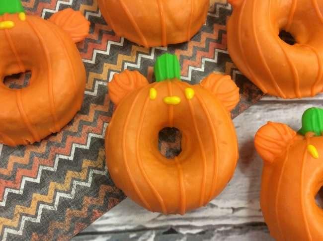 Mickey Pumpkin Cake Donuts
