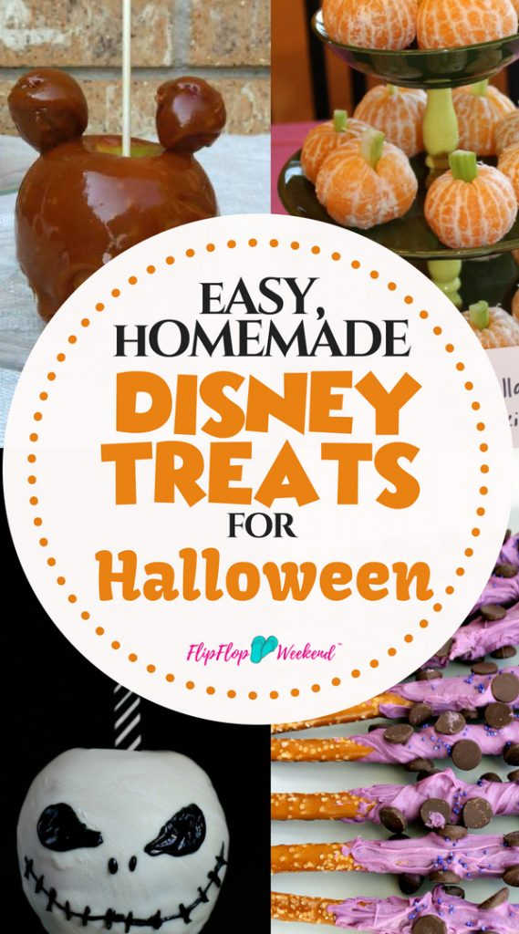 Have a family-friendly October 31st with these easy, homemade Disney Halloween Treats that your kids will not be afraid to help you make!