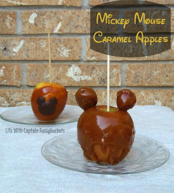 These delicious Mickey Caramel Apples will keep you in the Disney mood all through the fall season!