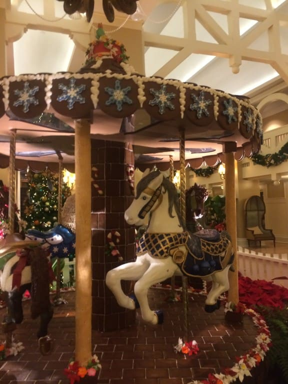 The Gingerbread Carousel at the Beach Club Resort