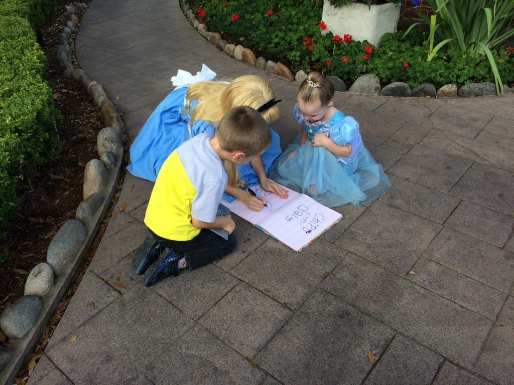 Turning a regular book into an autograph book for Walt Disney World created some of our favorite Disney memories.