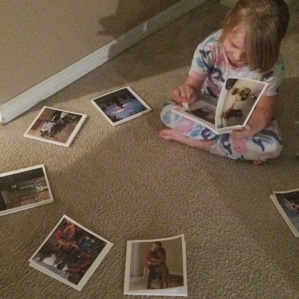 My kids love looking through a custom photo book that I easily created using Chatbooks.