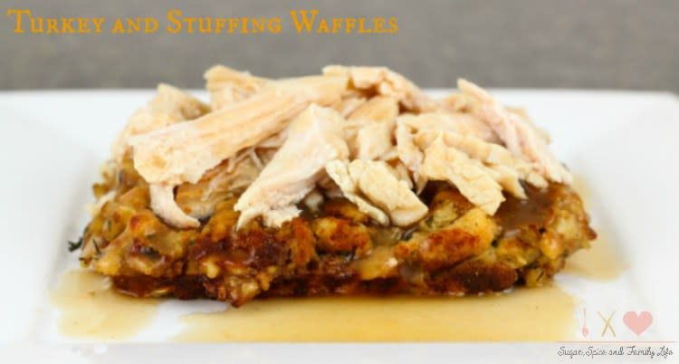 Something about turning my turkey and stuffing leftovers into a waffle dish just sounds AMAZING. This recipe from Allie at Sugar, Spice and Family Life would be so yummy for Black Friday brunch! Soups: