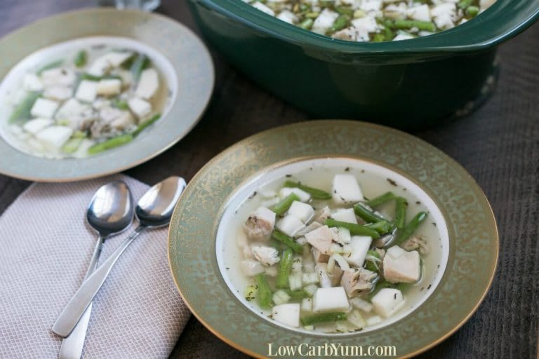 Lisa from www.lowcarbyum.com uses turnips and green beans to round out this delicious and healthy leftover Turkey stew