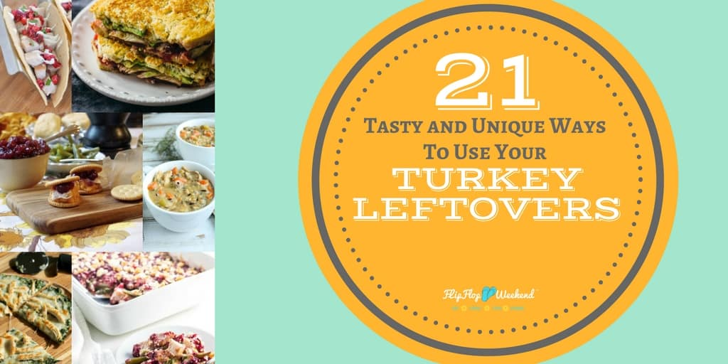 Who said leftovers had to be boring? This post has 21 delicious leftover turkey ideas to keep your family full and satisfied long after the Thanksgiving feast!