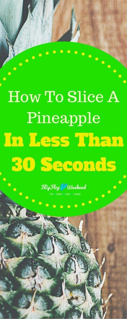Cut a pineapple the easy way with this handy kitchen tool that costs less than $6 and requires only about 30 seconds of work!