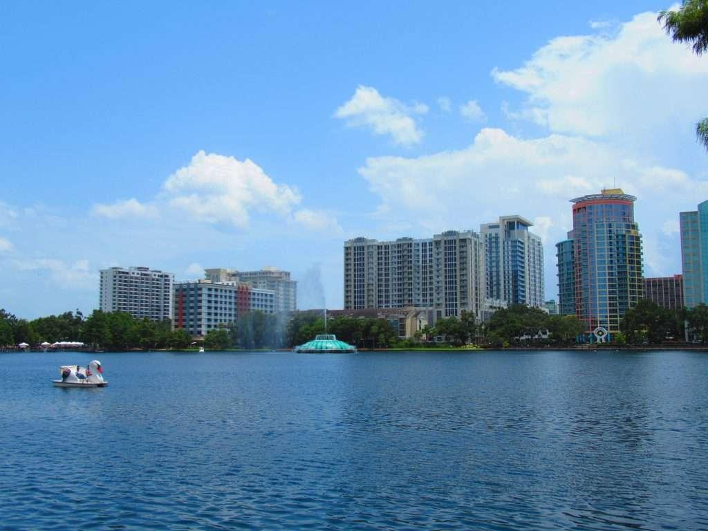 Rent a Swan Boat at Lake Eola, Florida