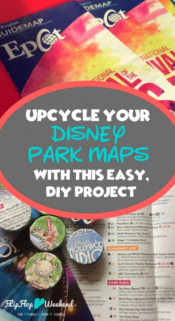 Wondering what to do with your Disney World maps? This simple, cheap DIY craft project will show you how to create custom magnets with your Disney map, so you can remember your magical Disney vacation every day