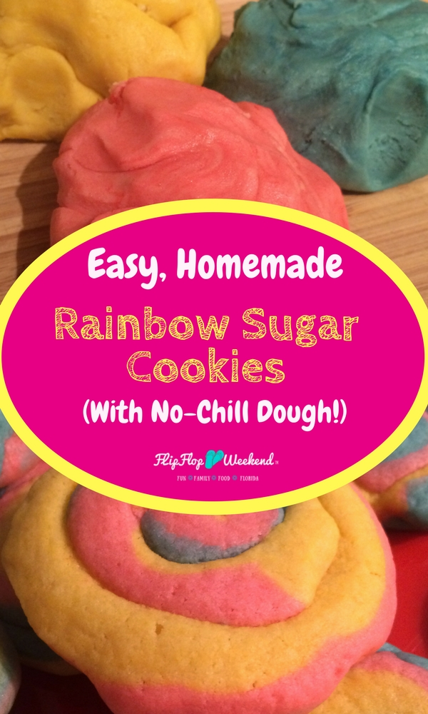 These easy homemade sugar cookies come together quickly and easily using a no-chill sugar cookie dough. The movie Coco inspired these colorful rainbow pinwheel cookies that are soft and delicious. Perfect cookies for birthdays, easter, gift-giving or just because!