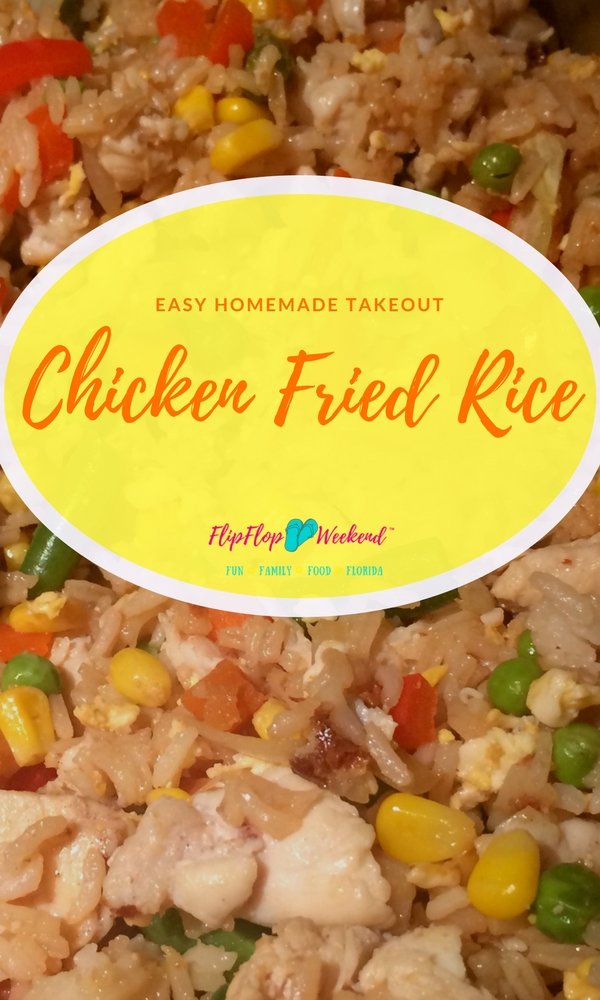 This homemade chicken fried rice recipe is budget-friendly and super quick, making for the perfect weeknight dinner