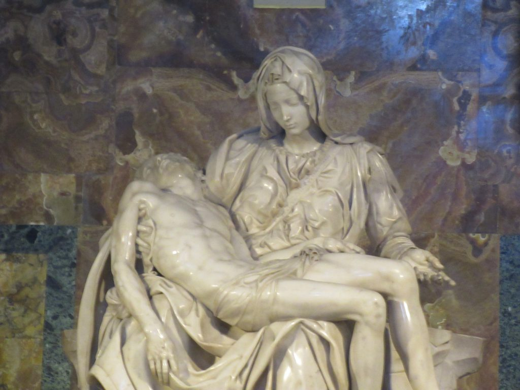 Michelangelo Pieta at St. Peter's Basilica in Vatican City