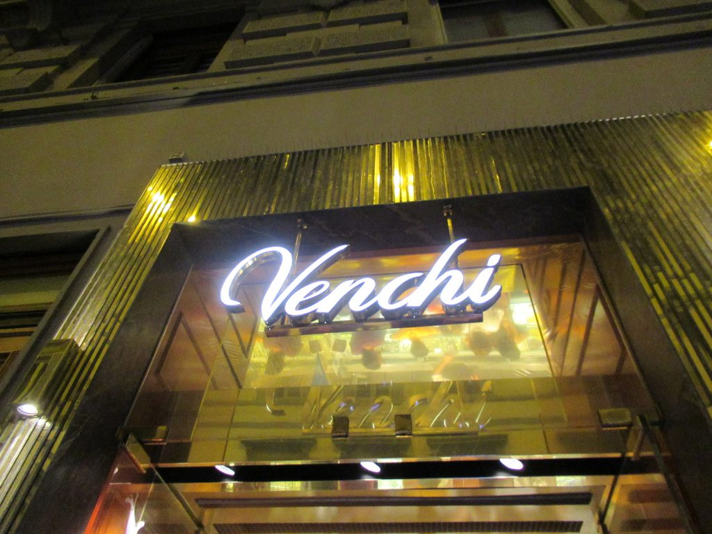 Venchi Gelato was some of the best gelato we had in Italy