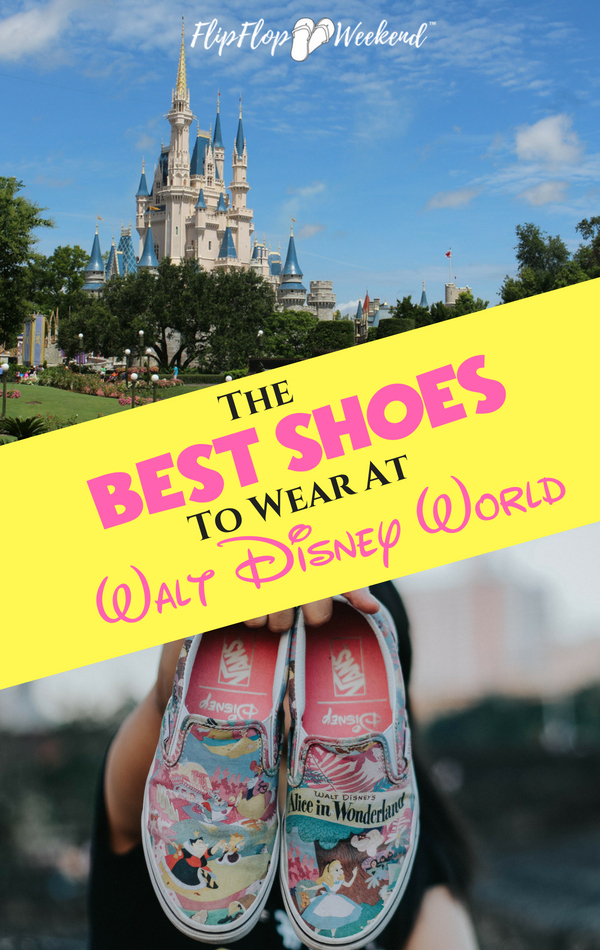 The average person may walk over 10 miles a day at the Magic Kingdom. It's important to have good footwear. This post features some of the best shoes to wear at Walt Disney World.