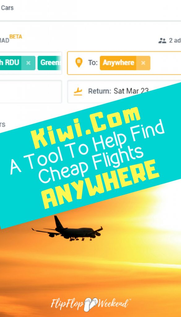 Kiwi.com is an online travel agency with an awesome free tool to help find and book cheap travel. Check out my Kiwi.com review for our experience booking through this site.