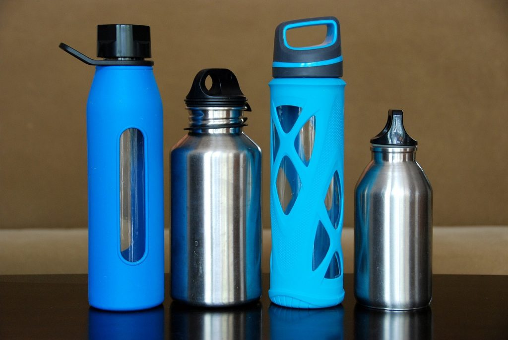 Save money on bottled water while traveling by taking your own reusable water bottles.