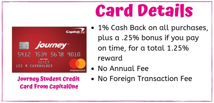 The Journey Student credit card is a good cash back credit card for students looking to build their credit. However, you do not need to be a student to apply.