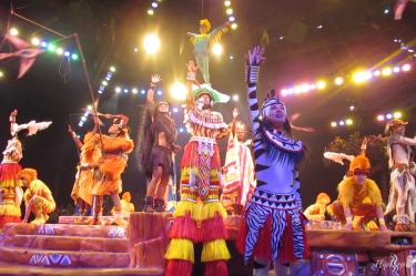 "Featuring fire dancing, and acrobats...plus the key numbers "" Hakuna Matata"" and "" Can You Feel The Love Tonight,"" the Festival of The Lion King at Disney's Animal Kingdom is a fun show for family members of all ages!"